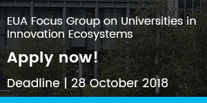 EUA Focus Group on Universities in Innovation Ecosystems: Apply now!